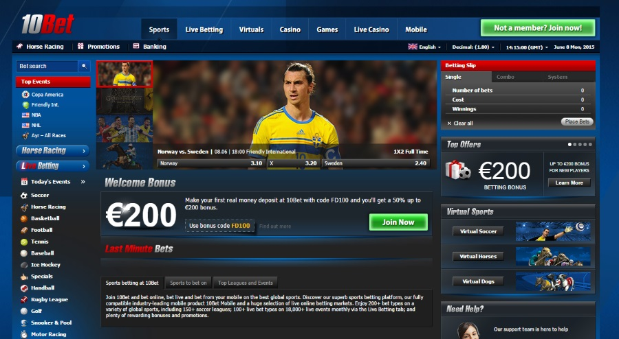 10bet welcome bonus offer