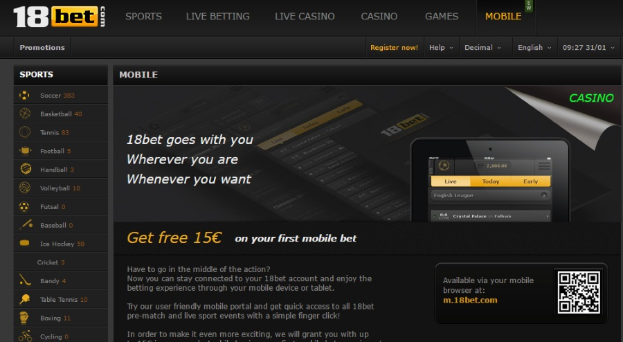 18bet Mobile