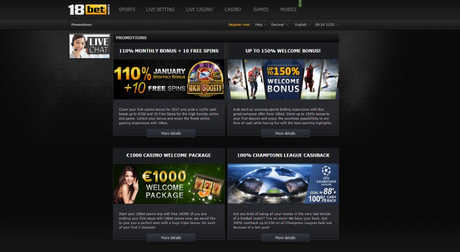 18bet Promotions