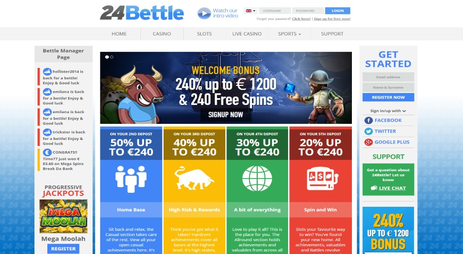 24Bettle Homepage