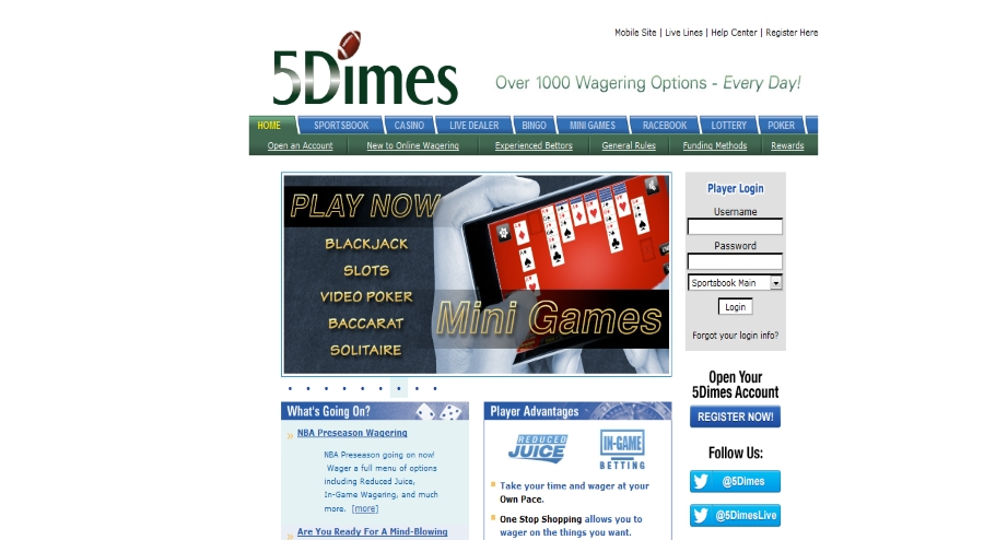 5Dimes sports betting bookie review for 2018
