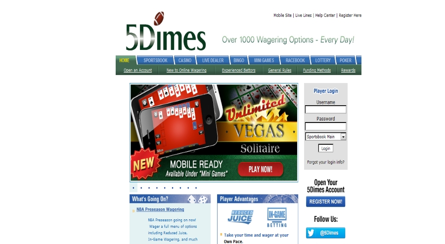 5dimes mobile betting
