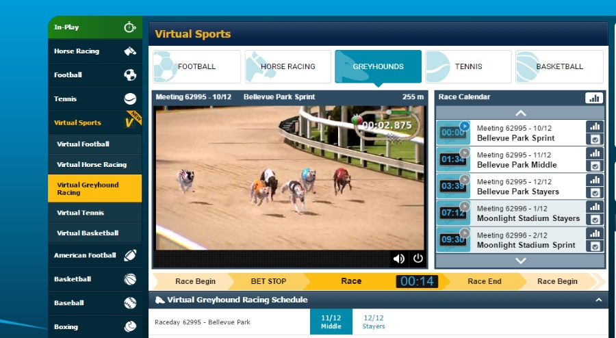 Betbright Virtual Sports