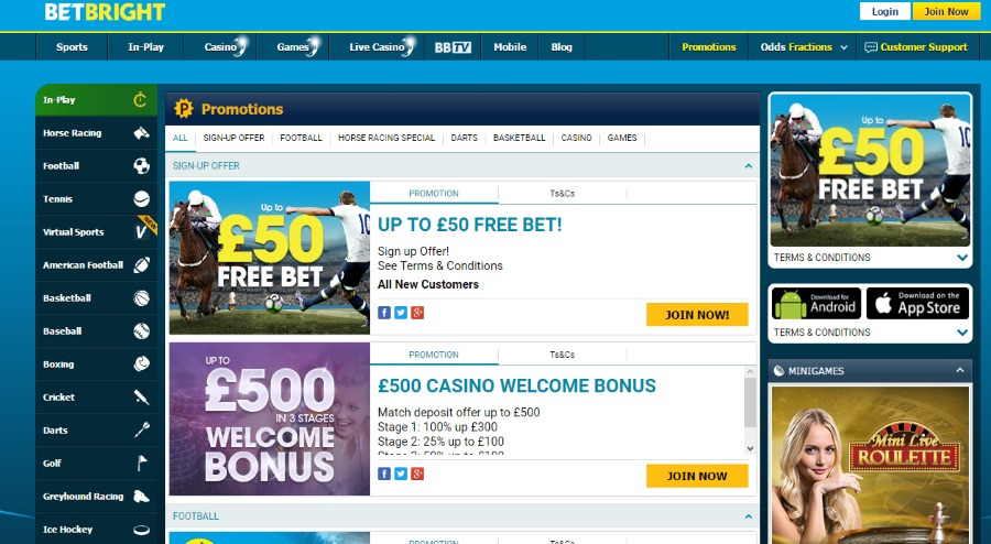 Betbright Welcome Bonus