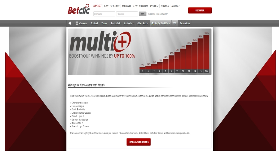 betclic multi boost your winnings
