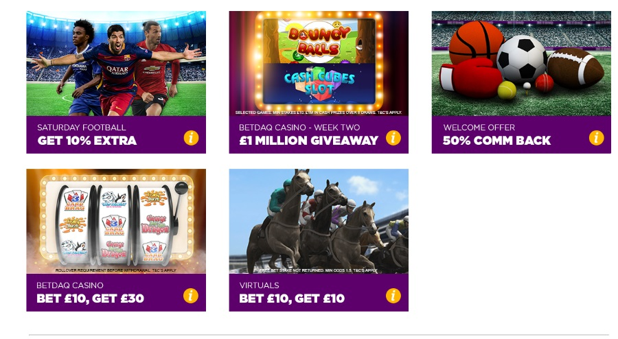 Betdaq Promos Overview
