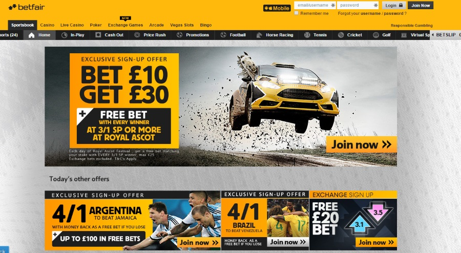 Betfair welcome
