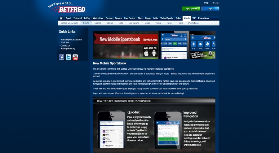 betfred mobile betting