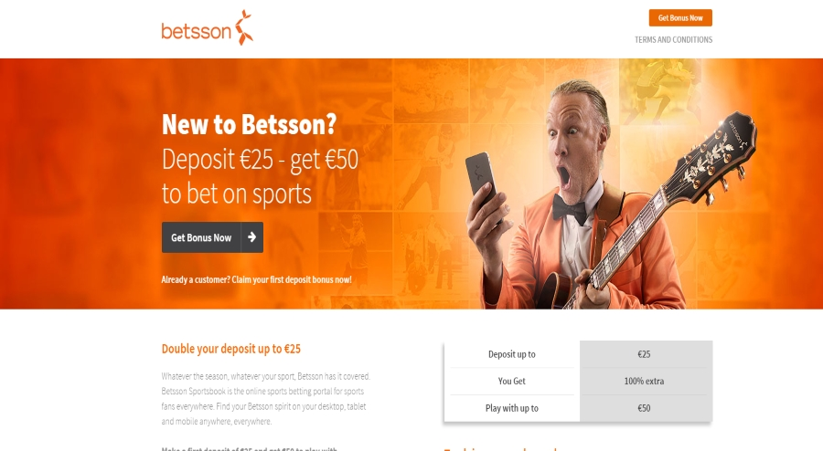 Betsson awesome bonuses