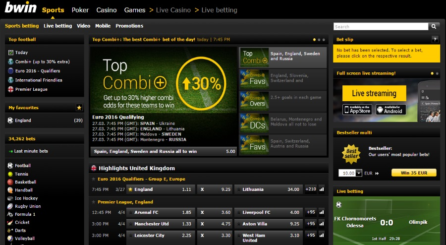 Bwin live betting app bilete castigatoare gsbettingcom