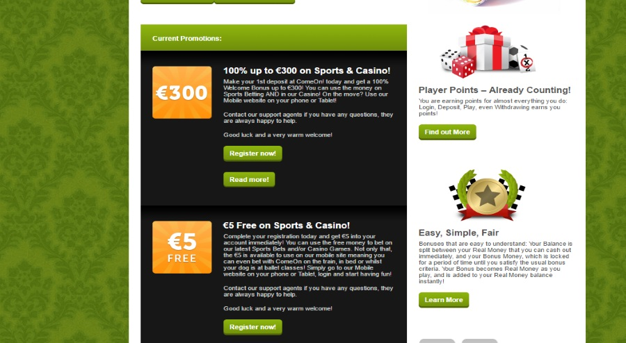 Comeon Sports Betting Review - Excellent Choice with Markets
