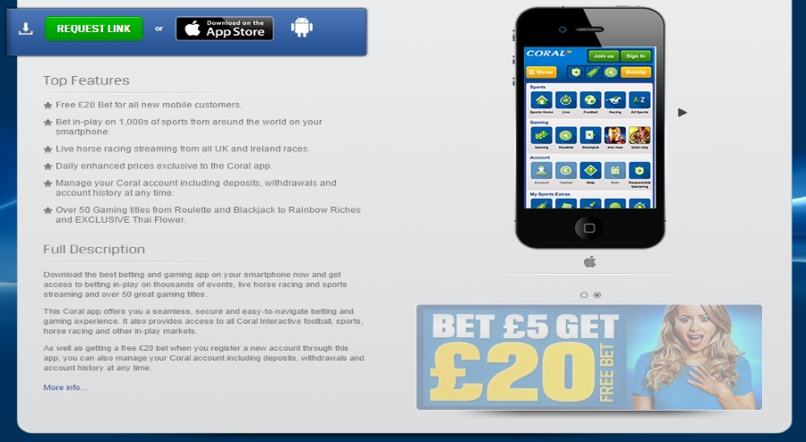Coral mobile bet