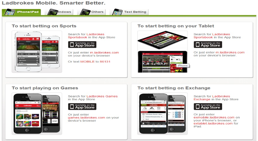 Ladbrokes mobile betting