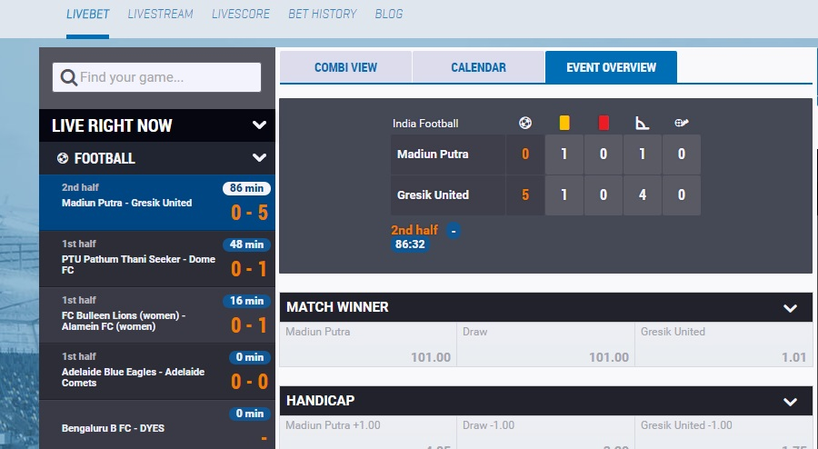NordicBet Live Betting
