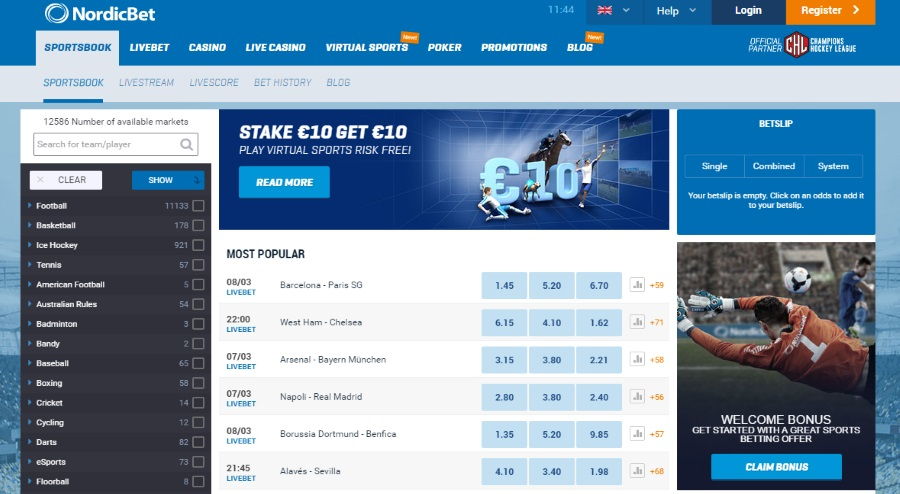 NordicBet Sports Covered
