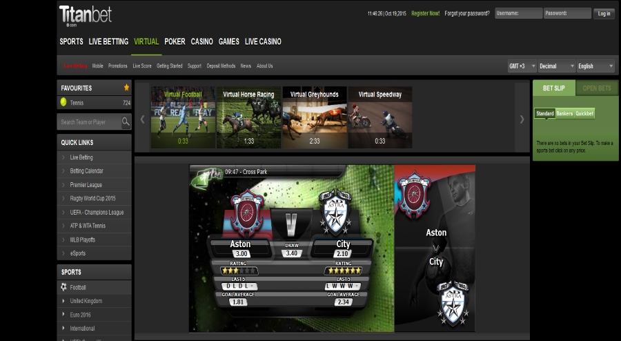 titanbet virtual sports