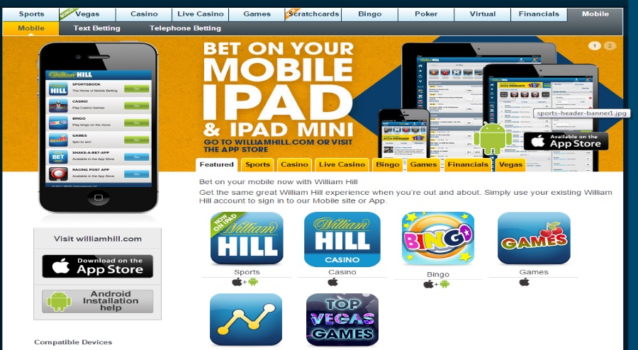 William Hill mobile bet